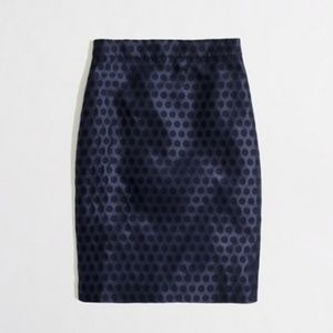 J. Crew Factory Pencil Skirt in Polka Dot